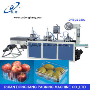 Pet Apple Fruit Tray Forming Machine with Stack (DHBGJ-350L) pictures & photos