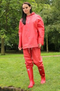 Yellow Blue Polyester Red Rain Suit Rains Clothing Ladies Raincoats pictures & photos
