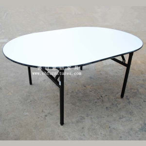 Foldable Oval Hotel Table (YC-T04) pictures & photos