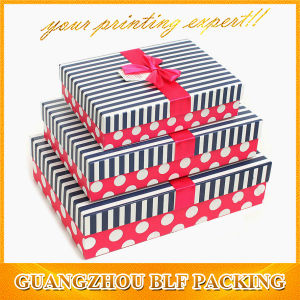 Striped Packaging Clothing Paper Gift Box Cardboard pictures & photos