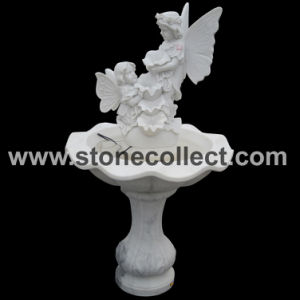 Excellent Quality Hand Carved White Marble Fountain pictures & photos