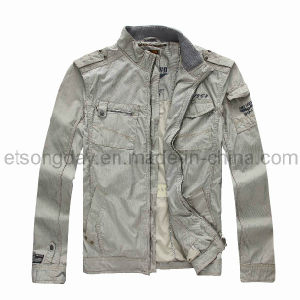 Gary Hot Sale 100% Cotton Men′s Casuall Jacket (1649-A) pictures & photos