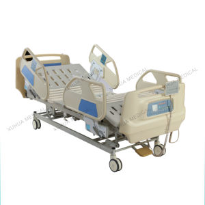 Five Functions Electric Medical Bed for ICU Room with Weighing Scale pictures & photos