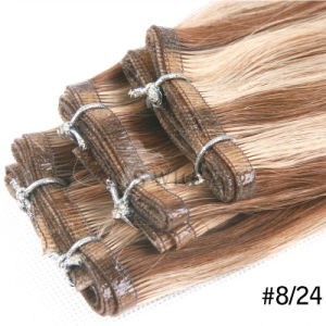 China Supplier 100%Virgin Remy Indian Glue Hair Extension pictures & photos