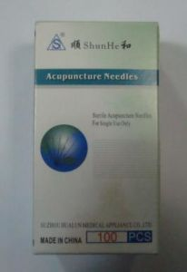 Shunhe Brand Disposable Sterile Acupuncture Needle with Tube pictures & photos