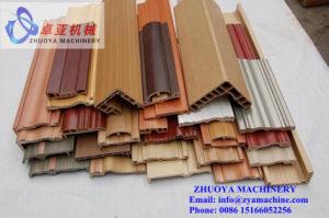 Wood Plastic Production Line/WPC Profile Extrusion Machine pictures & photos