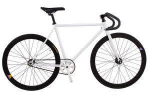 Direct Factory Made White Frame Fixed Gear Track Bike (dg-fg-004)