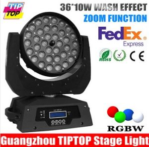 Low Noise 36X10W 4in1 Zoom LED Moving Head Light