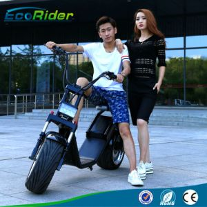 Remove 60V 12ah LG Two Wheel Harley Electric Scooter Brushless Hub 1200W E-Scooter for Sale pictures & photos