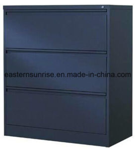 Three Drawer Powder Coating Metal Steel Iron Storage Cabinet pictures & photos