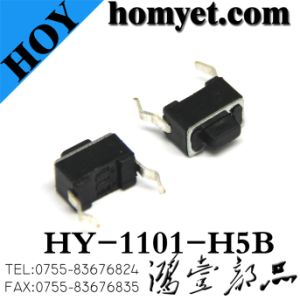 Tact Switch (HY-1101-H5B) with Black Base and Copper Pins pictures & photos