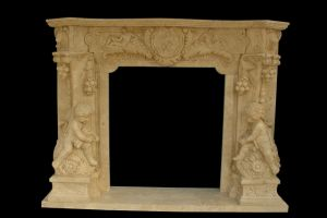 Angel Carving Fireplace (FRP338) pictures & photos