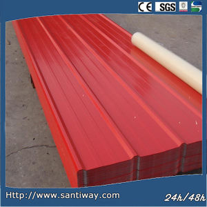 Red Color Coated Decorative Corrugated Roofing Steel Sheet pictures & photos