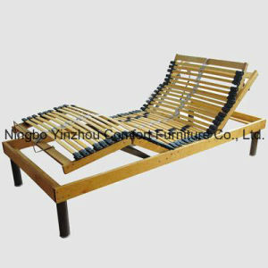 4 Zones Birch Wooden Slat Electric Adjustable Bed pictures & photos