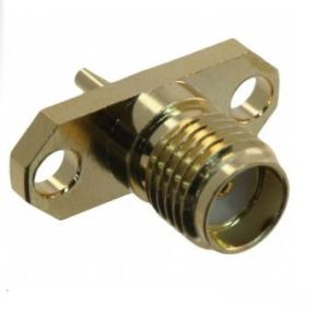 SMA Straight Female Jack Flange Panel Mount Coaxial Connector