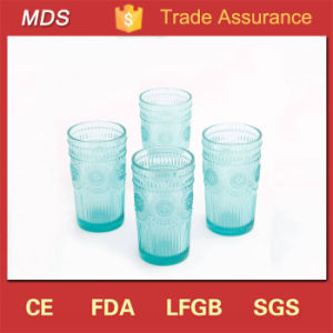 New Fashion Spiral Turquoise Glass Tumbler Manufacturer pictures & photos
