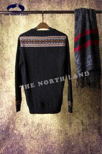 Men′s Round Neck Cashmere Jacquard Pullover pictures & photos