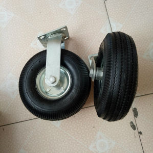 10 Inches Industrial Black Rubber Pneumatic Wheel Caster pictures & photos