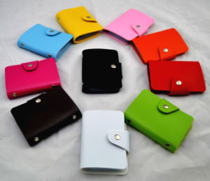 Fashion PU Leather Cards Collection Wallets pictures & photos