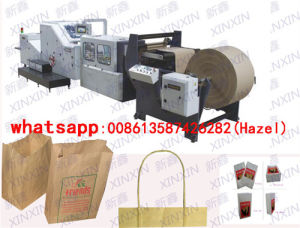 Paper Square Bottom Bag Making Machine Paper Bag Making Machine with 4 Color Printing Machine in Line pictures & photos