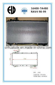 High Quality Aluminum Brazed Auto Radiator for Toyota RAV4 98-99 pictures & photos