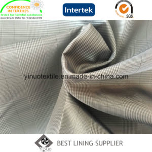 Small Check Polyester Lining Fabric pictures & photos