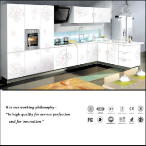 UV MDF High Glossy Kitchen Cabinet (Zh086) pictures & photos