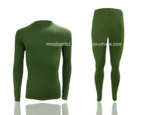 Compression Wear, Custom Long Sleeve Men Running Wear, Second Skins with Fleece pictures & photos