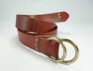 New Design Fashion Lady Belt of Full Grain Leather (EUBL0912-35) pictures & photos