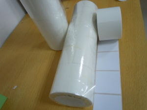 Semi Matt Water Glue Thermal Transfer Label Roll pictures & photos