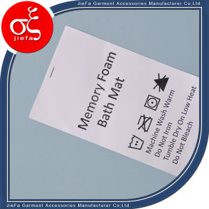 Factory Price Custom Wash Care Non-Woven Label Printing for Mattess pictures & photos