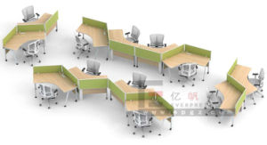 Modern MDF Wood Office Furniture Office Computer Table Desk Design Made in China Guangzhou Supplier pictures & photos