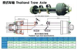 Semi Trailer Axle - Thailand Type Axle 13t 20t pictures & photos