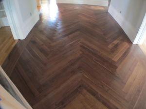 Herringbone Block Parquet Wood Flooring for Domestic Settings Parquetry