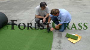 Golf Green Artificial Grass Client Quality Inspection Before Shipping pictures & photos