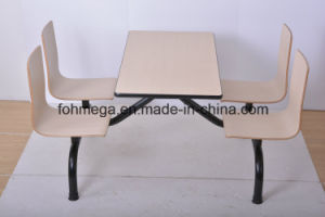 4 Seater Plywood Canteen Restaurant Table (FOH-NCP16) pictures & photos
