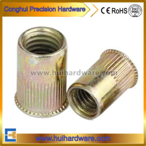 Carbon Steel Yellow Zinc Small Head Knurled Body Rivet Nuts pictures & photos