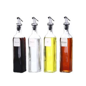 4sets Metal Label Glass Bottle Kitchenware of Glassware pictures & photos