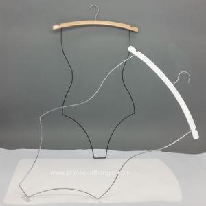 Hot Sell Wooden Bikini Metal Hanger Swimwear Body Hangers Wooden Clothes Hanger Hangers for Jeans pictures & photos