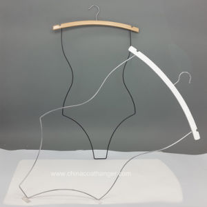 Hot Sell Wooden Bikini Metal Hanger Swimwear Body Hangers pictures & photos