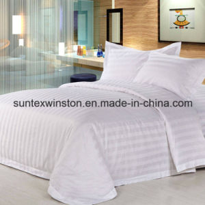 High Quality Hotel Bedding Sets Hotel Stripe Bed Sheet Set pictures & photos
