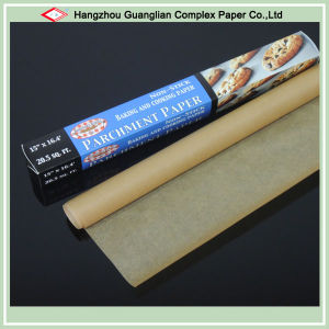 Virgin Wood Pulp Made Natural Brown Parchment Paper for Baking Cooking pictures & photos