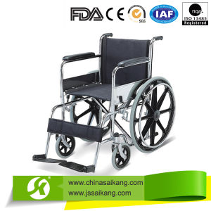 Professional Service Standard Size Wheelchair with Fixed Footrest pictures & photos