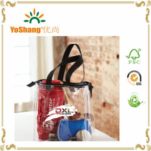 Vinyl Clear Plastic Beach Tote Bag PVC Handle Bags with Zipper pictures & photos