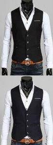 Fashion Men Cotton Vest Black Colour