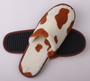 Cow Print Slipper