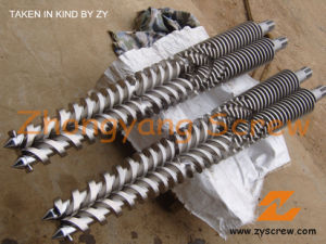 Bimetallic Jwell Conical Twin Screw and Barrel for Extruder pictures & photos