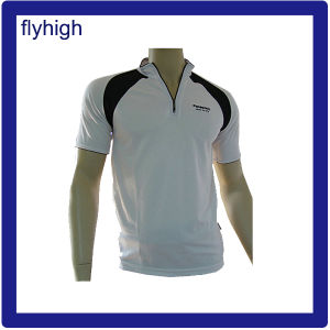 Custom Made Polo Shirt with Zipper pictures & photos