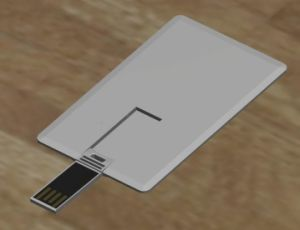 White Business Card USB Driver