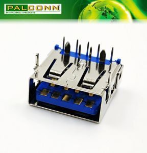 USB 3.0 Connector, 9 Positions, Right Angle DIP Type, Current Rating~1.8A at 250VAC pictures & photos